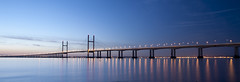 S e v e r n   D a w n (Cropped) (ƇĦŘĺς ΛΨŁЩΛŘĐ ƤĦŎŦŎƓƦΛƤĦϔ) Tags: bridge winter england beauty sunshine wales architecture sunrise river bristol early colours crossing motorway south estuary severn gateway waters welsh m4 vast spanning sudbrook redwick hdcymru