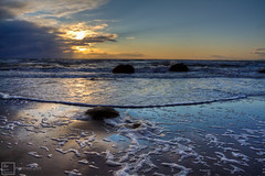 Wreck Beach, Suns Glare (Basic Elements Photography) Tags: sunset sunlight canada beach vancouver waves bc ubc wreckbeach britishcolombia