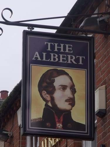 The Albert - Albert Road, Tamworth - pub sign
