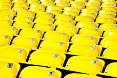 You Sit Here (Thomas Hawk) Tags: california usa yellow losangeles unitedstates baseball 10 unitedstatesofamerica fav20 fav30 dodgerstadium fav10 fav25 superfave