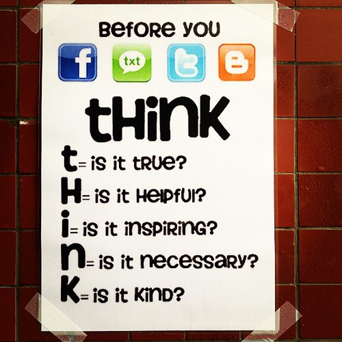 THINK before you by ToGa Wanderings, on Flickr