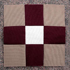Nine Patch Block (amyehodge) Tags: quilt squares quilting block ninepatch 9patch handsewing handpiecing