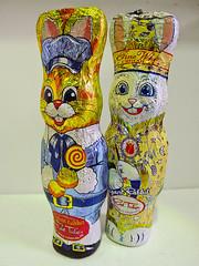 Elegant Rabbits (spiky face) Tags: elegant elegantrabbit redtulip redtulipchocolate easter chocolate whitechocolate egges eastereggs mouse