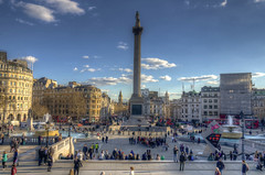 Nelson (Fil.ippo (on vacation)) Tags: city people urban london statue square cityscape trafalgar nelson piazza statua londra hdr filippo citt uklondon d7000