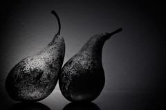 A Pear!!! (Leon Ritchie) Tags: bw stilllife white black canon 50mm mono pears pair pear 18 apair apear 50d leonritchie