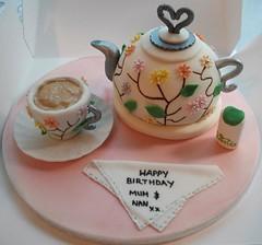 Tea & Teapot Cake (Kelbelles) Tags: cake tea teapot