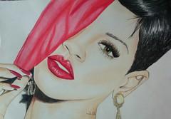 Rihanna (Susie Shelton) Tags: portrait beautiful sketch artwork artist drawing rihanna rihannapo