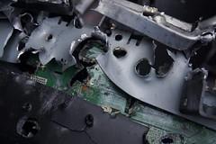 Kodak's last stand 1 (matthewsdean78) Tags: computer gun hole kodak printer board rifle holes guns bullet bullets circuit inkjet