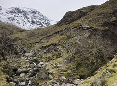 Mouth of Hell Gill, Oxendale (Langdale), Lake District National Park, Cumbria, UK (Ministry) Tags: uk snow tree nationalpark beck steps lakedistrict boulder cumbria gill langdale crag ghyll oxendale crinklecrags sheltercrags hellgill