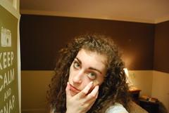 age is a funny thing (a.n.decker photography) Tags: life november selfportrait green home digital self bigeyes 22 eyes nikon eyelashes emotion curls greeneyes age curlyhair selfimage eyebrows 2015 nikond3100