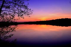 """ Silence "" # Sunset Dreilndersee # (Kalbonsai) Tags: sunset sky color water zonsondergang nikon silence waterscape dreilndersee 1855mmm d5100 naturphotography naturshot"