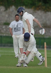 St. Peter's second XI vs Pevensey first XI - 14 May 2016 (Brighthelmstone10) Tags: stpeters sussex bowl cricket bowling bowler eastsussex prestonpark wicket pevensey bowled stpeterscricketclub pevenseycricketclub pevenseycc