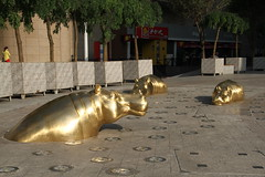 Hippos 1215 (Petr Novk ()) Tags:  china na  guangxi  liuzhou  asia asie sculpture  art hippo animal   statue city citycentre downtown street   hippopotamus hroch socha