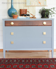 2016 0523 Gray and Gold Art Deco Full Size-7 (Phoenix Restoration   Furniture by Christina) Tags: seattle art phoenix century gold three general furniture painted traditional gray walnut drawer restoration dresser deco mid bohemian edmonds finishes
