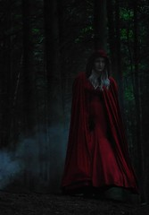 The Nemophilist (Clandrew) Tags: trees red forest smoke atmosphere cape hood cloak redridinghood clandrew