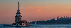 Sunset at Uskudar (Aleem Yousaf) Tags: blue sunset tower turkey photo nikon aya sofia walk istanbul mosque maiden bosphorus d800 hagia leander 70200mm uskudar kiz kulesi