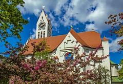 Munich churches (werner boehm *) Tags: church architecture munich wernerboehm architerktur evlutherlserkircheschwabing