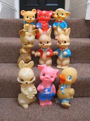 Combex Creations! (The Moog Image Dump) Tags: uk cute rabbit animal vintage toy duck kawaii figure lamb roo creations squeaky combex