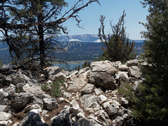 Looking down on Big Bear Lake from Bertha Peak Trail (JingKe888) Tags: california unitedstates bigbear