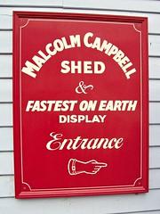 121 Malcolm Cambell + ERA Sheds, Brooklands (robertknight16) Tags: britain campbell sheds brooklands