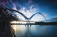 _DSC9781 (adam_reynolds) Tags: bridge sunset water river infinity stockton tees