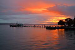 Hagnau - Lake Constance (Leo von der Photographie) Tags: lake landscape see pier wasser sonnenuntergang outdoor himmel hafen bodensee landschaft constance steg lakeconstance hagnau