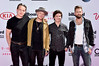 LAS VEGAS, NV - MAY 22: (L-R) Musicians Magnus Larsson, Mark Falgren, Lukas Graham, and Kasper Daugaard of the band Lukas Graham attend the 2016 Billboard Music Awards at T