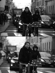 [La Mia Città][Pedala] Vieri e Silvia (Urca) Tags: portrait blackandwhite bw bike bicycle italia milano bn ciclista biancoenero mirò bicicletta 2016 pedalare dittico 85345 nikondigitale ritrattostradale