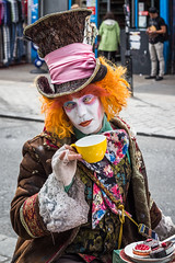 Alice Through the Looking Glass (ASthedoc) Tags: street city england london film glass westminster hat promotion movie town looking tea alice camden johnny through depp londra