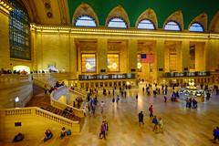 Elegant Grand Central Terminal in New York (` Toshio ') Tags: newyorkcity travel people usa newyork america train interior americanflag trainstation grandcentralstation grandcentralterminal toshio xe2 fujixe2