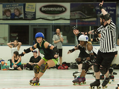 IMG_2405 (clay53012) Tags: womens flat track roller derby wftda derby flat track madison mrd league bout jammer jam team skate hartmeyer ice arena moocon2016