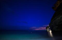 Pollicino ... (gio_guarda_le_stelle) Tags: blue sunset sea sky italy seascape nature night stars sofia atmosphere bluehour gargano lanotteeilmare