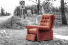 have a seat & stay a while ;) (s@ssyl@ssy) Tags: 52by52 lazyboy snow chair outside selectivecolour 100x