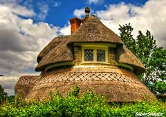 The Round Cottage 2 (Supersnappz1) Tags: blaisehamlet bristol england canonpowershotsx530hs nationaltrust cottage thatched historic quaint hdr summer