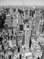 Midtown Manhattan Skyscrapers, New York City (jag9889) Tags: nyc newyorkcity blackandwhite bw usa ny newyork building tower monochrome skyline architecture skyscraper observation apartments unitedstates outdoor manhattan unitedstatesofamerica aerialview landmark midtown deck architect observatory condo esb empirestatebuilding luxury condominium condominiums openair 2016 rafaelvioly penciltower superskyscraper jag9889 432parkavenue 432park 20160610