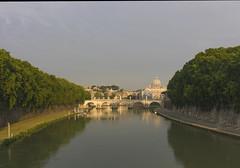 Alba (MartY . . .) Tags: rome roma sanpietro sanpeter dawn sunrise alba tevere fiume river tiber bridge sun travel lovelycity dome