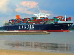 Schiffsgigant - ship Gigant (Sophia-Fatima) Tags: deutschland wedel elbe schleswigholstein hanjin containerschiff nikonflickraward 1millionview schiffsgigant shipgigant