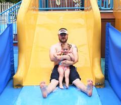 Daddy's Girl (donna_0622) Tags: toddler father sliding wet louisvillezoo splash fun nikon d750 ky kentucky