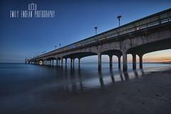 #313 of 365 - dusk - 230616 (Emily_Endean_Photography) Tags: longexposure sunset beach coast pier nikon dusk wideangle bournemouth boscombe