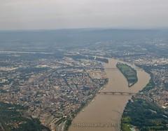 View Over Frankfurt, Germany (Retroscania!) Tags: city plane germany view frankfurt flight airbus