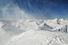 Vortex at the summit ,   (.:: Maya ::.) Tags: winter mountain snow vortex wind bulgaria summit whirlwind pirin        mayaeye polejan  mayakarkalicheva