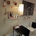 イケアの家具を使用した2人用狭小ダイニングの写真