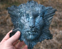 naiad (origami joel) Tags: blue black face paper origami mask folding naiad