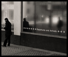 Victoria Coach Station (davemason) Tags: street london station mono coach stranger victoria