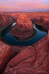 Red Dawn Rising ([Chris Tennant]) Tags: red arizona cliff southwest sunrise river dawn colorado bend az landmark horseshoe iconic christennantphotography