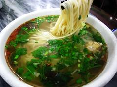 Handmade noodle  (Mel@photo break) Tags: china food breakfast soup yummy handmade chinese mel eat meal noodle onion melinda  qinghai   chanmelmel