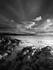 Ruby Bay (been snapping) Tags: ocean uk sea sky blackandwhite naturaleza lighthouse seascape beach nature water monochrome clouds canon landscape mono coast scotland mar seaside fife sigma coastal 7d elie oceano schotland ecosse eastneuk fifecoastalwalk escosia mygearandmebronze mygearandmesilver