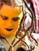 The Gorgon Medusa (ybiberman) Tags: portrait girl yellow israel costume eyes jerusalem lips purim braid alwaysexc