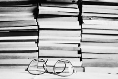 (provincijalka) Tags: old nerd lines vintage paper glasses different many yes books monochromatic read collection dust thick prescription stacked lenses specks eyeglases iamblind provincijalka lookinhthrough