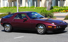 1987 Porsche 928 - Maraschino Red Poly --- Huntington Beach 004 (Pat Durkin OC 13 Million Views!) Tags: huntingtonbeach 928 worldcars 1987porsche